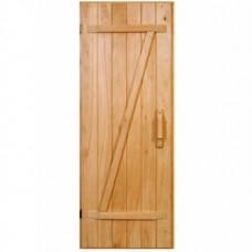 """Деревянная дверь для бани """"Крестьянка"""" - Домівка"""