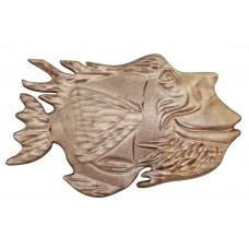 Деревянное интерьерное панно Рыба №3, 430х260 мм.)