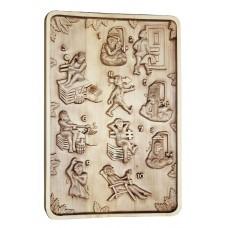"""Деревянное резное панно для  бани """"Инструкция"""" (Банная иструкция) это нужный подарок с юмором"""