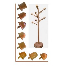 Деревянная вешалка для дома и офиса